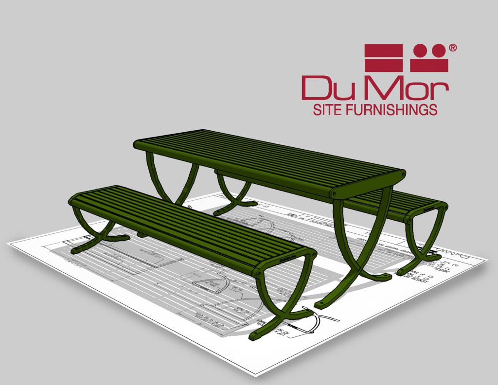 DuMor 191 Series Backless Bench