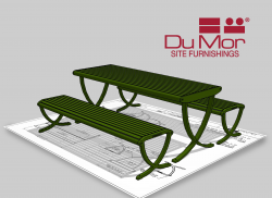 DuMor 191 Series Backless Bench