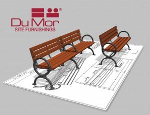 DuMor 121 Series Bench
